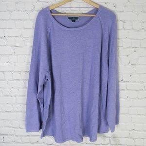 Karen Scott Sweater Womens 3X Light Purple Lilac